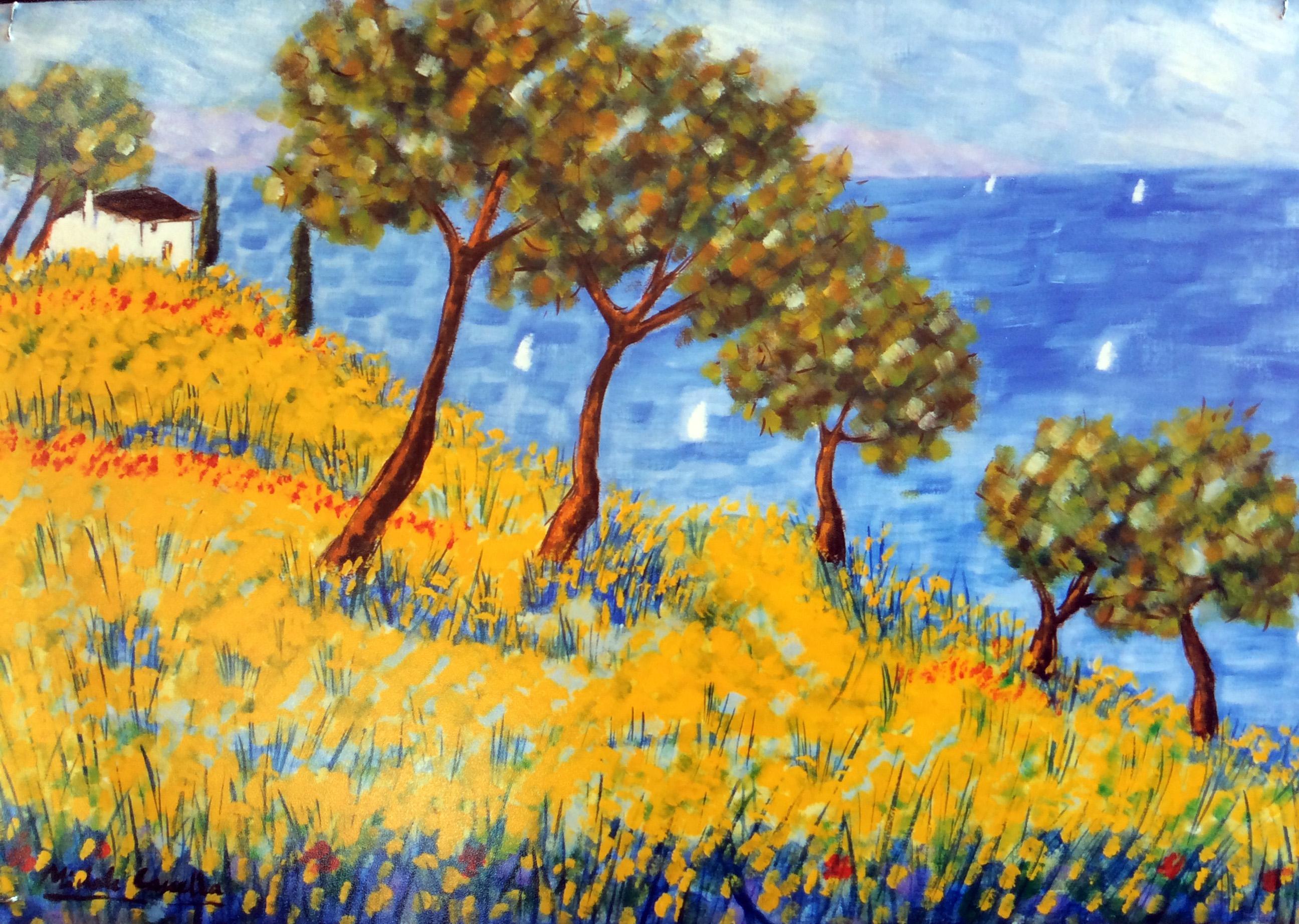 Michele cascella finestra sul mare vendere quadri for Finestra 50x70