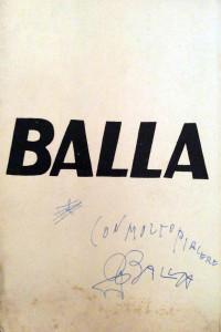 Catalogo Balla- Retrospettiva