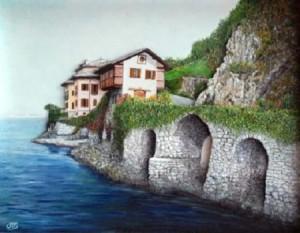 Michele Criscuolo (Cris) – A passeggio sul lago per andare a Villa Musa