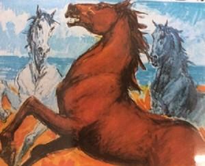 Walter Molino – Cavalli sulla spiaggia