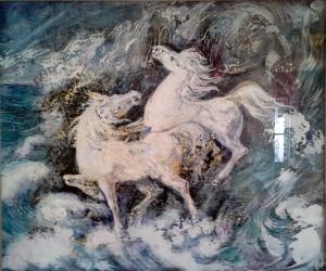 Aligi Sassu – Cavalli nel mare
