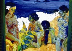 Vittorio Franchina – Bagnanti omaggio a Gauguin