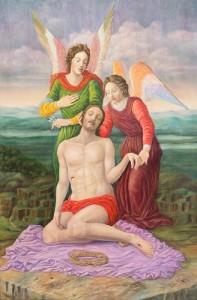 Taizo Hiraga – Cristo morto con gli angeli