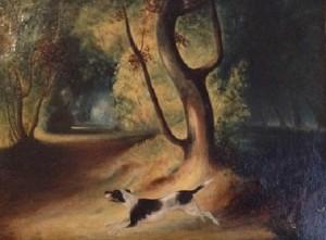 Filippo Palizzi – Cane nel bosco