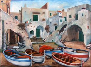 Giuseppe Mancuso – Barche a riposo