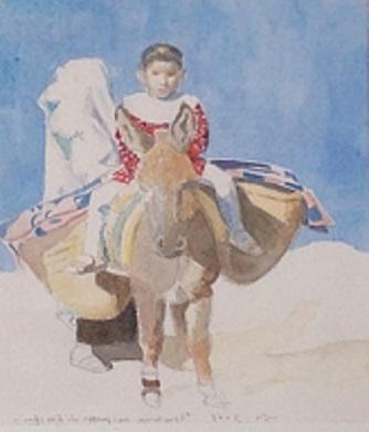 Vito Tongiani – La bambina nei pressi di villaggio in Marocco