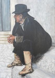 Emilio Lenne – Bracciante seduto