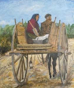 Emilio Lenne – Verso i campi col traino