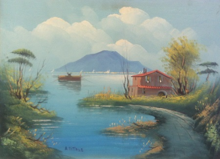 Vitale casa sul lago vendere quadri for Disegni casa sul lago
