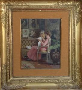 Natale Attanasio – Dama seduta che legge