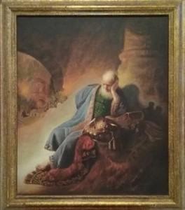 """Giansiracusa – Riproduzione di Rembrandt """"Geremia prevede la distruzione di Gerusalemme"""""""
