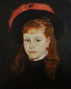 Orazio Morolli – Ragazza con cappello nero