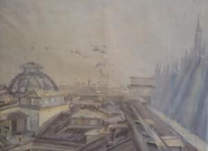 Francesco Carini – Milano vista da Studio Piazza Duomo