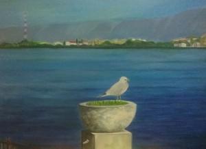 Rosanna Arena – Contemplando il lago di Ganzirri