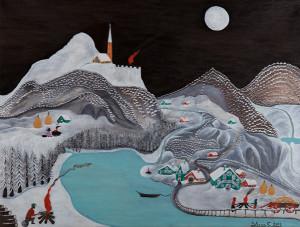 Giuseppe Lucio Sforza – Notturno con la neve