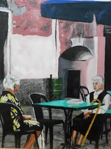 Emilio Meoni – Bordighera: Anziani al bar