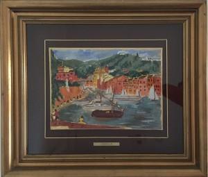 Michele Cascella – Barche di Portofino