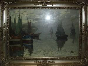 Antonio Ferrigno – Marina con barche