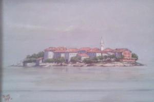 Piero Crespi – Vista di Isola dei Pescatori
