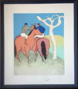Giuseppe Cesetti – Due fantini a cavallo con albero