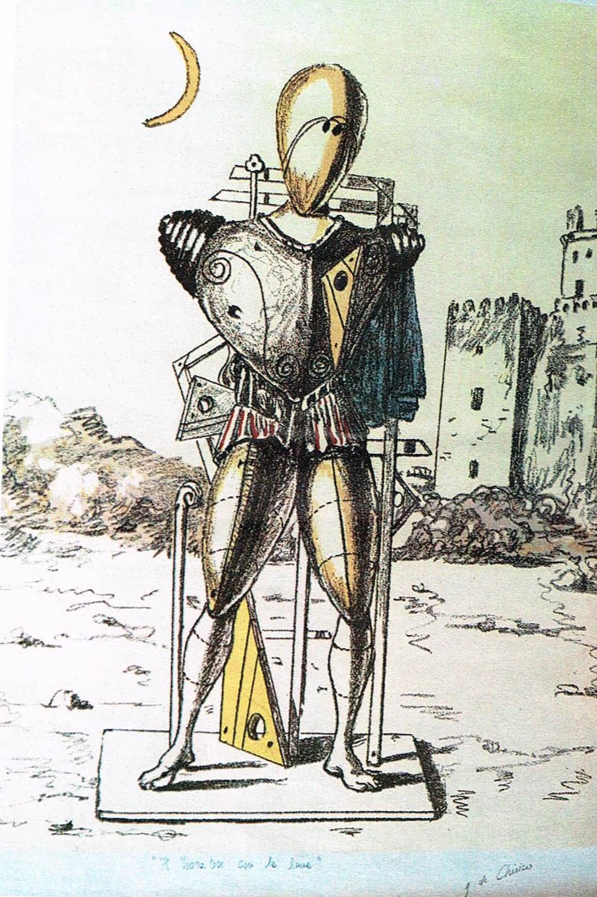 Giorgio De Chirico – Il trovatore con la luna
