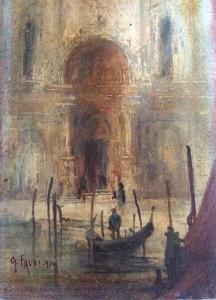 Gennaro Favai – Porta della scuola di San Marco Venezia