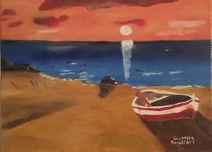 Giuseppe Fonsdituri – Boat by the sea