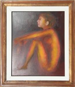 Renzo Brandi – Nudo in rosso