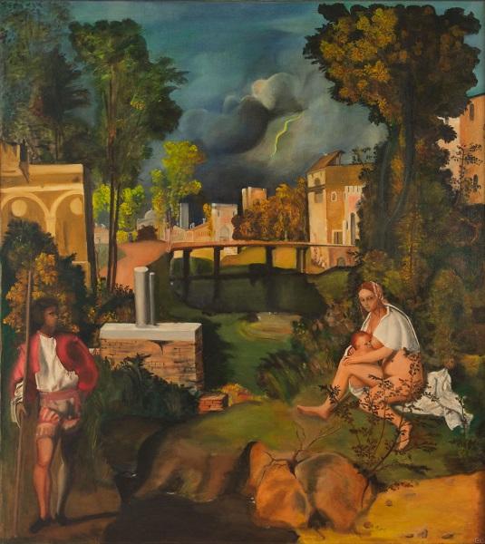 Carlo Gioia – La tempesta del Giorgione (Copia d'autore)