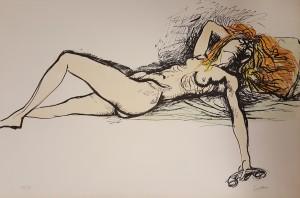 Renato Guttuso – Nudo al telefono