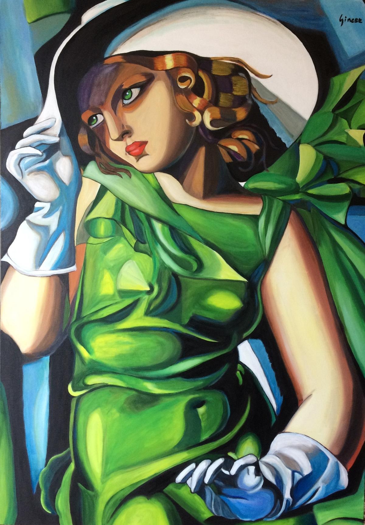 Nicola Ginese – Ragazza con il vestito verde
