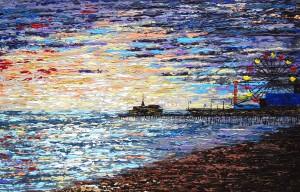 Daniela Pasqualini – Santa Monica Pier sunset'