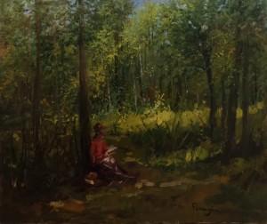 Aldo Parmigiani – Lettura nel bosco