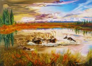 Buccigrossi Floriano – La migrazione delle renne