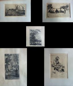 Giovanni Fattori – Collezione di 5 Acqueforti