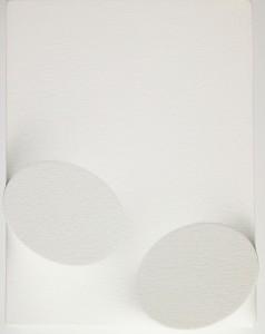 Turi Simeti – Due ovali bianchi