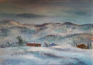 Giovanni Omiccioli – Case e capanni sotto la neve