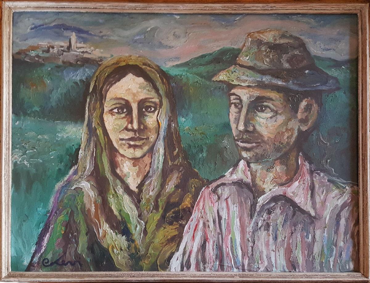 Carlo Levi – Coppia di contadini
