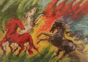 Mauro Capitani – Tre cavalli vicino al mare