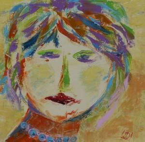 Simona De Arcangelis – Donna con collana