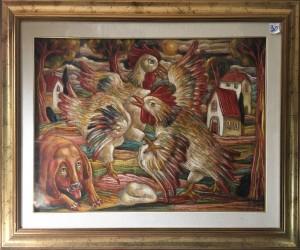 Roberto Sguanci – Battaglia di galli