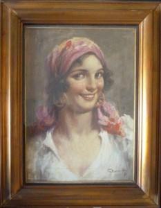 Antonio Valloni – Ritratto di donna