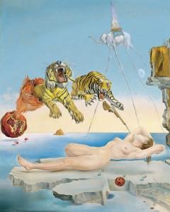Salvador Dalì – Sogno causato dal volo di un'ape intorno a una melagrana un attimo prima del risveglio