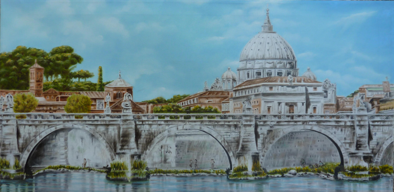 Meloni Paola –  Panorama S.Pietro e Castel S.Angelo