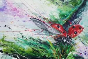 Luca Azzurro – Coccinella in volo