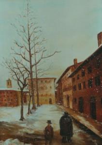 Giosuè Marsicano – Nevicata a Pavia