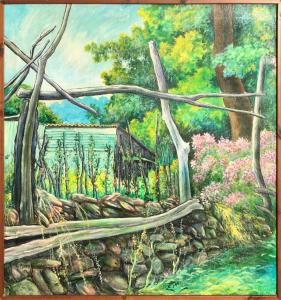 Giuseppe Minaya – Paesaggio con gallinaio