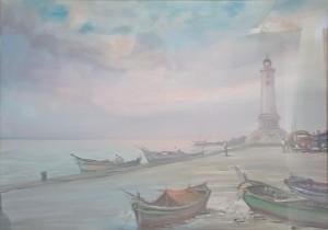 Renzo Del Greco – Veduta di barche