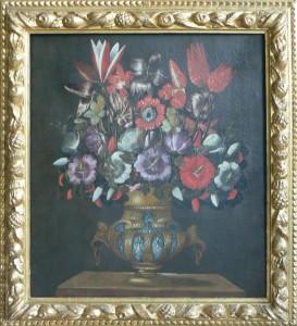 Maestro del vaso a Grottesche – Natura morta con vaso di fiori