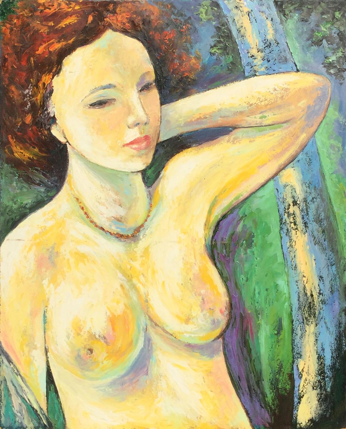 Giuseppe Minaya – Nudo con collana